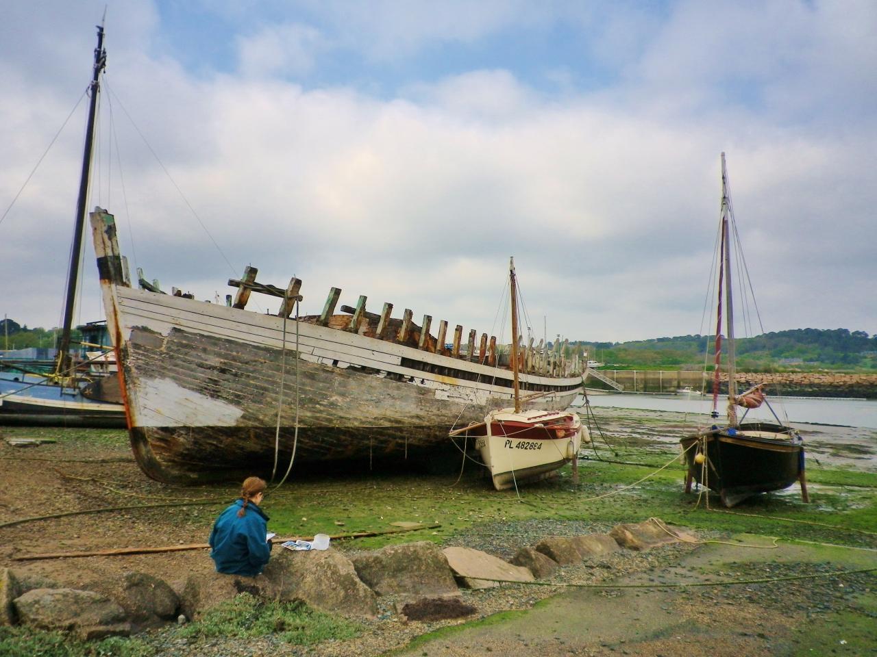 cimetière des bateaux à Paimpol