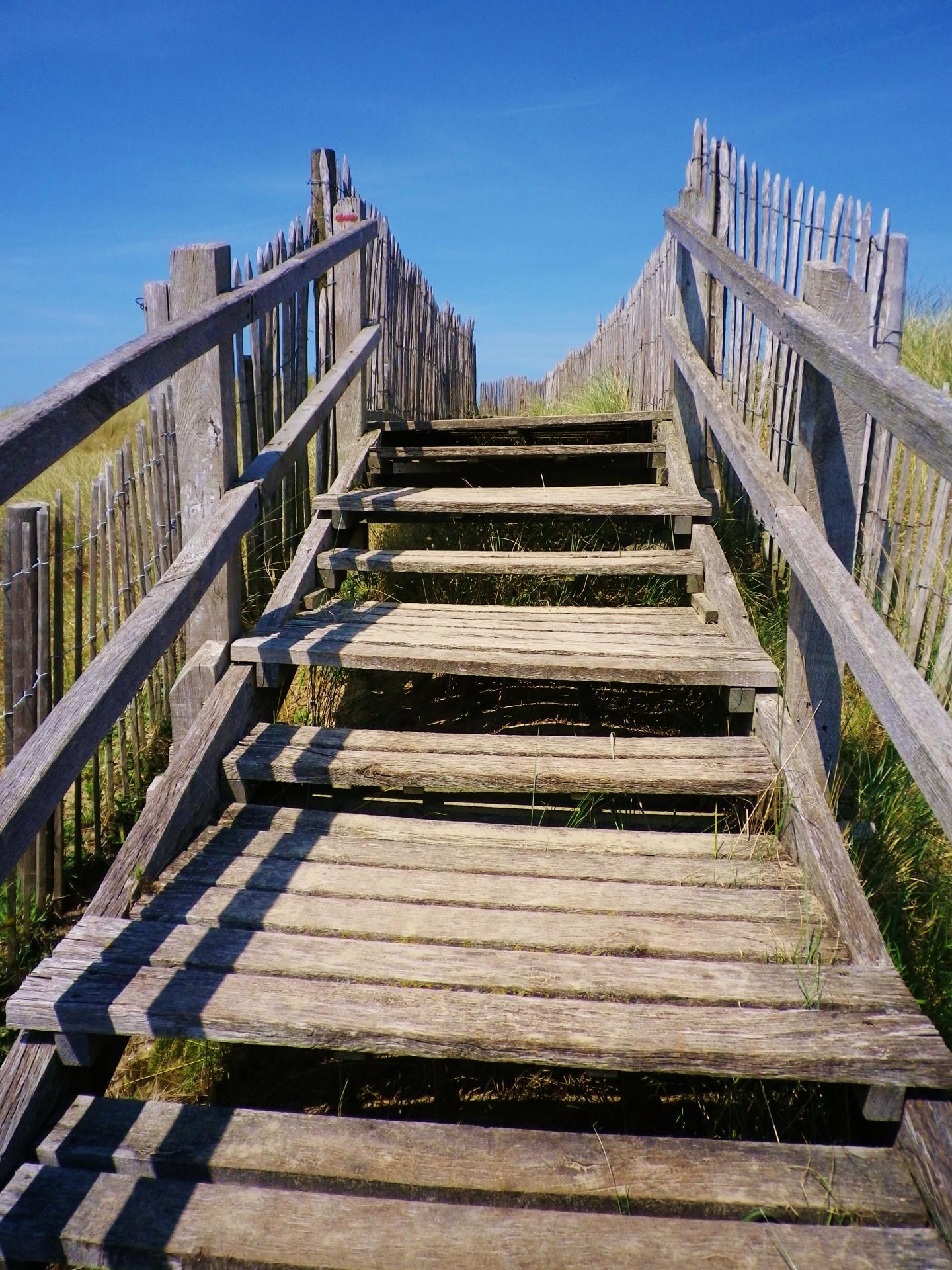 Bleriot plage l escalier de l acces a la mer
