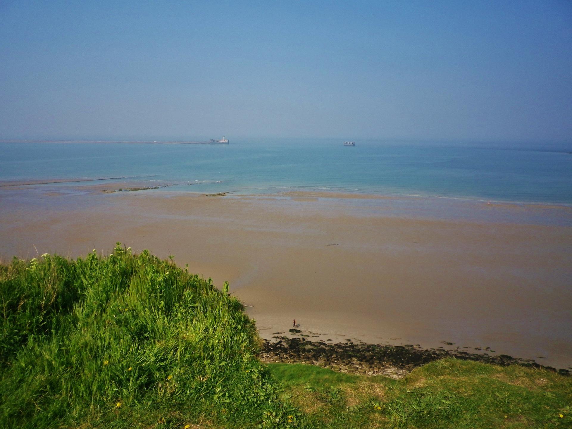Boulogne sur mer la plage et les falaises lieu dit la creche