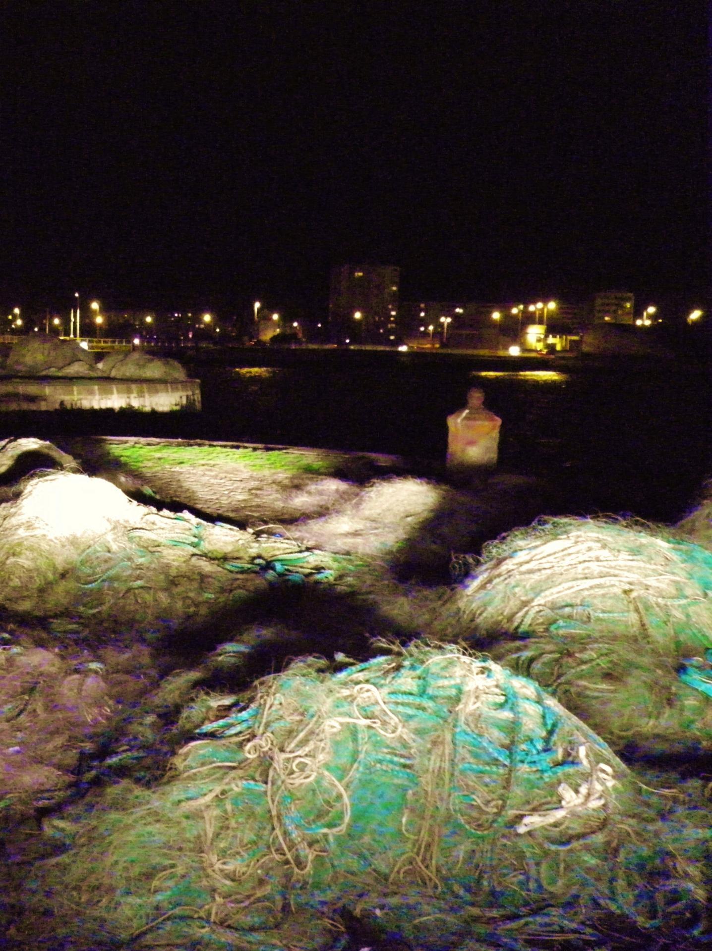 Calais photographie les filets bleus