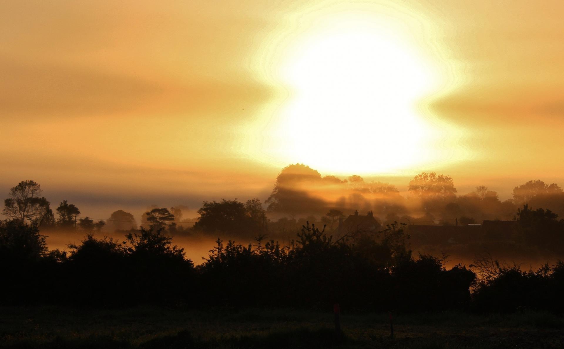 Conteville les boulogne top photo lever de soleil et brume