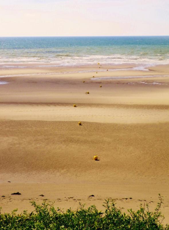 photographie plage Equihen marée basse