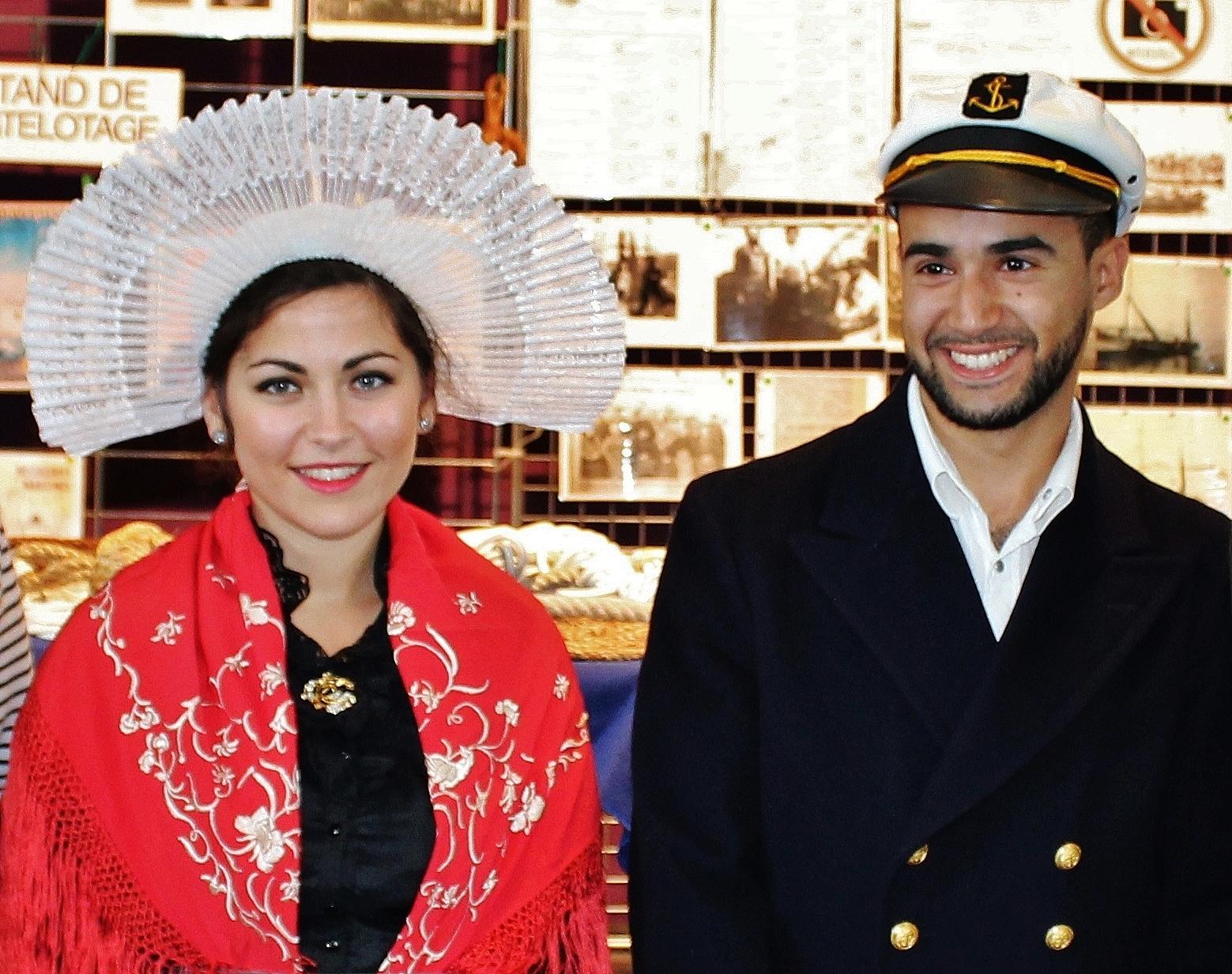 Fete des islandais hemmes de marck en calaisis capitaine et matelot 1