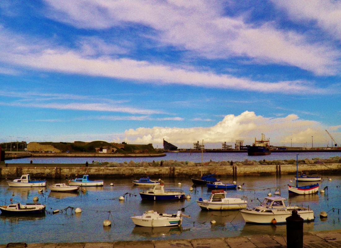 Site photo calais ciel bleu
